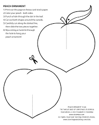dulemba coloring page tuesday peach christmas ornament
