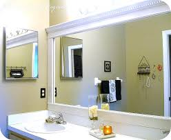 large bathroom mirror ideas remodelaholic framing a large bathroom mirror stuning framed