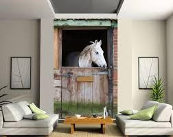 deco chambre cheval stickersnews sticker mural géant trompe l oeil cheval dimensions