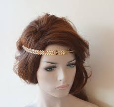 vintage accessories bridal gold rhinestone headband leaf wedding headband wedding
