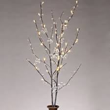 pre lit branches branch lights west elm