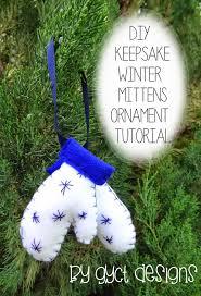 diy keepsake mitten ornaments tutorial gyct designs