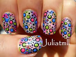 crazy polka dot nail art tutorial youtube