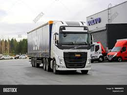 big volvo white volvo fh 500 semi truck demo image u0026 photo bigstock