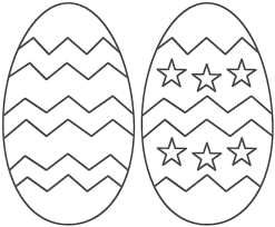 easter egg cut out coloring page free download