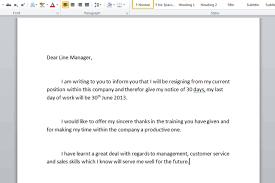 job resignation letter format in word letter idea 2018