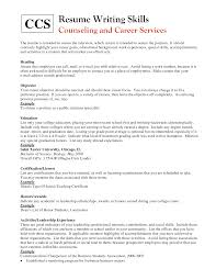 resume template job grad objectives psychologist with