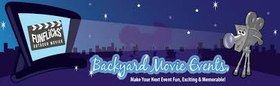 Backyard Movie Party by Backyard Outdoor Movie Party Rental Equipment By Funflicks Party