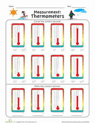 worksheets thermometer worksheet opossumsoft worksheets and