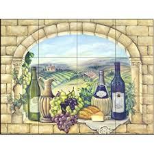 kitchen tile murals backsplash ceramic tile mural tuscan wine ii by broughton kitchen