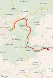 Map My Walk Route Kennet U0026 Avon Canal Stage 1 Bath To Bradford On Avon Walk Trail