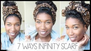 7 ways to tie an infinity headscarf naptural85 youtube