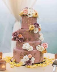 purple wedding cake with flowers a wedding cake blog