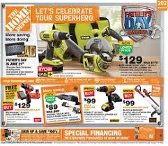 home depot black friday toys home depot father u0027s day ad sale june 18 24 2015 ryobi one 18