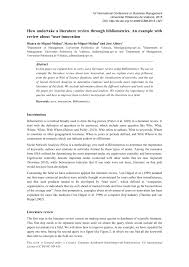 how to write a literature review paper how undertake a literature review through bibliometrics an how undertake a literature review through bibliometrics an example with review about