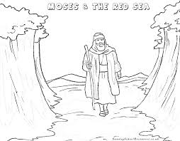 sunday moses bible coloring pages