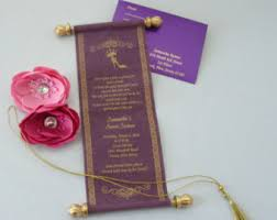 scroll invitations scroll invitations etsy