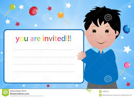 Invitation Card Download Party Invitation Card Boy Stock Photography Image 13892732