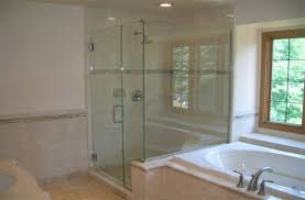 glass shower doors add an elegance and style to the bathroom
