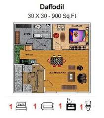 crocus floor plan for 35ft x 50ft feet plot 1750 sq ft ground