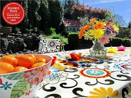 Patio Tablecloth Round Best 25 Outdoor Tablecloth Ideas On Pinterest Cheap Tablecloths