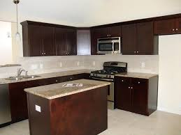 Dark Brown Kitchen Cabinets Amazing Dark Brown Color Mahogany Wood Kitchen Cabinets Featuring