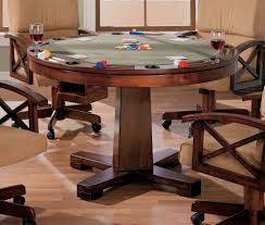 Dining Pool Table Combo by Three In One Cherry Poker Bumper Pool Dining Table Poker Tables