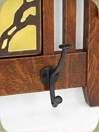mission 4 hook coat rack w three 6 tiles sold separately cr1 5