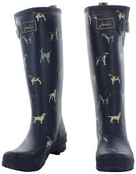 womens boots joules joules welly print s rubber boots waterproof ebay