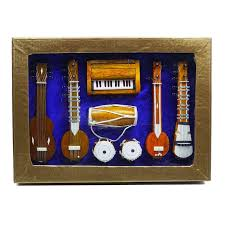 Home Decoration Item by Musical Instruments Indian Home Decor Wooden Table Set Decorative