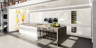 photo de cuisine avec ilot chic modèle de cuisine avec ilot central cuisine contemporaine