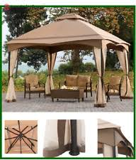 Metal Pergola With Canopy by Gazebo Metal Frame Canopy Mosquito Netting Outdoor Garden Patio