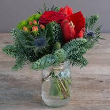 jar flowers caen christmas jam jar flowers mills in bloom florists