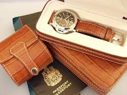 watch travel case images Double watch travel storage case light purple alligator grain JPG