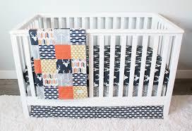 Soccer Crib Bedding by Woodlands Nursery Bedding Orange And Navy Deer Crib Bedding Set
