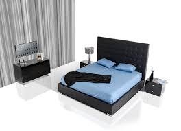 Modern Black Bedroom Sets Modrest Lyrica Modern Black Bedroom Set