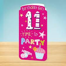 birthday card 11th birthday sweet garlanna greeting cards