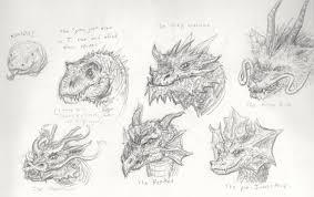dragon sketches by xiaorobear on deviantart