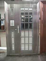 Exterior Steel Entry Doors With Glass Secure Your House With Metal Entry Doors