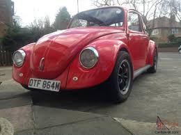 red volkswagen beetle vw beetle 1300 classic car 1973 red