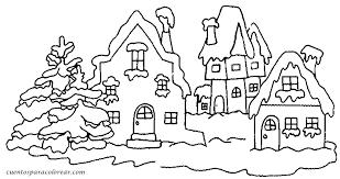 dibujos navideñas para colorear dibujos para colorear paisajes navideños