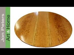 How To Build A Round Wooden Picnic Table by How To Make A Round Table Top Out Of Solid Cherry Wood Youtube