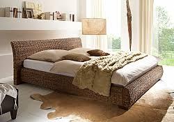 rattan schlafzimmer rattanbett für erholsame stunden und einen blickfang im