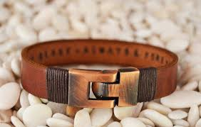 leather bracelets for men express shipping personalized leather jewelry for him mens