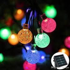 commercial led tree lights 30 leds bubble beads lights party xmas led strings light l solar
