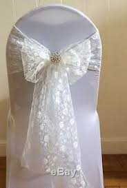 lace chair covers hire 100 white chair covers hessian burlap taffeta lace sashes wedding