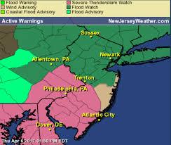 Nj Counties Map Severe Thunderstorm Watch Issued In 7 N J Counties Nj Com