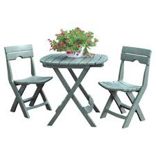 Folding Patio Bistro Set Green 3 Piece Bistro Set Table Folding Outdoor Dining Patio