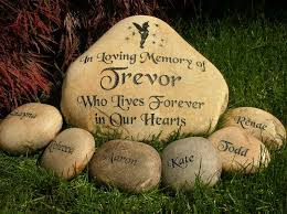 Engraved Garden Rocks Memorial Rocks Personalized Garden Memorial Stones Engraved Rock