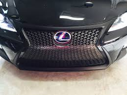 lexus isf grill painted grill surrounds 2014 ct200h f sport page 3 clublexus